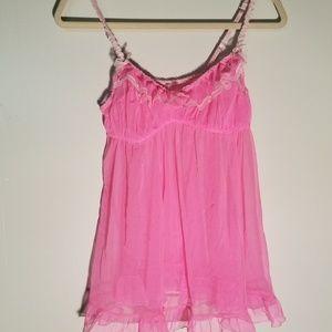 Victoria Secret Pink Lace Chemise